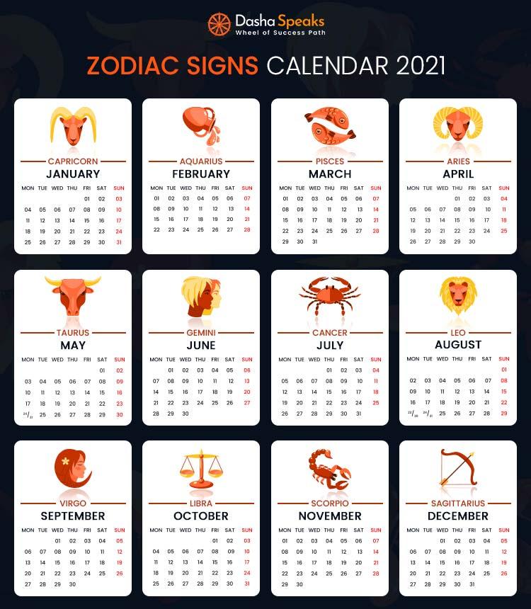 Zodiac Calendar 2021 HD image