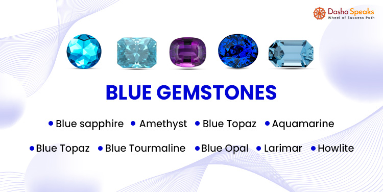 List of Blue gemstones names and pictures