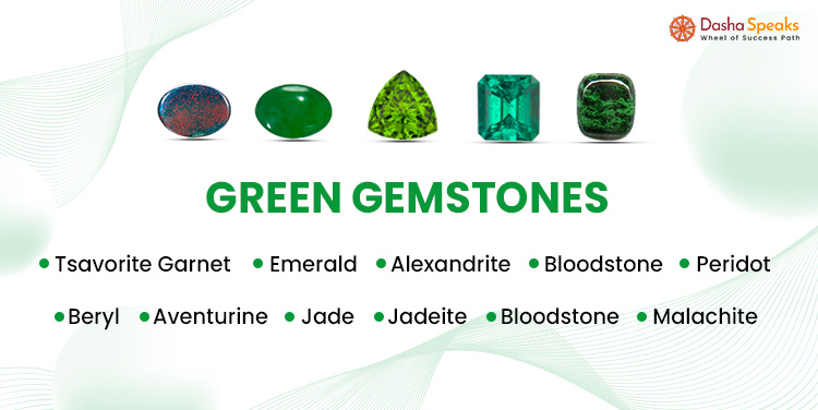 List of green color gemstones names and pictures
