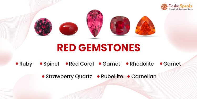 List of Red gemstones names and pictures